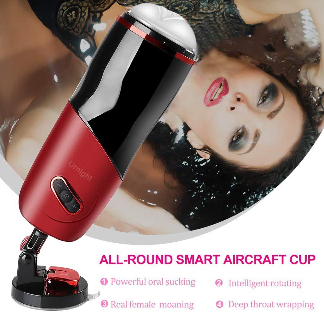 Aorgasms Automatisches Massagegerät mit Teleskop- und Dreh Funktion,5 Vibrationsfrequenzen,Eingebauter Smart Chip,USB aufladen,Wasserdicht