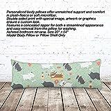 VOTANTA - Bull Terrier Body Pillows (Body Pillow 100% Polyester, 20x54'')