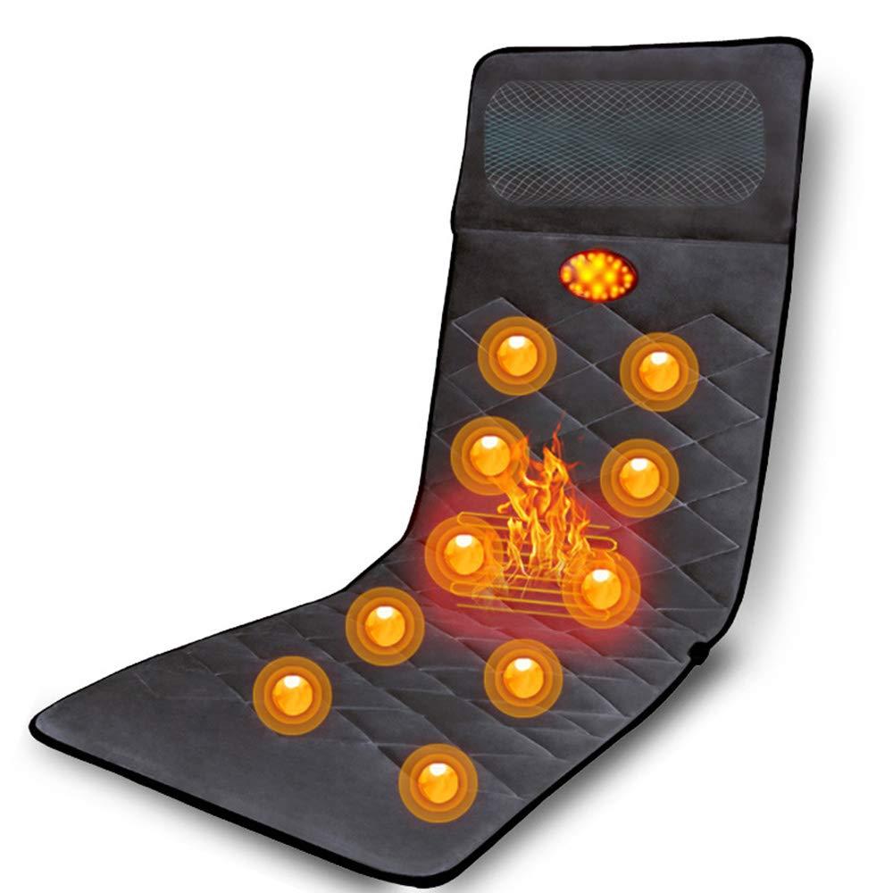 マッサージクッション、赤外線加熱ネックエアバッグ、首、背中、腰、脚の痛みを和らげるボディマッサージクッション、ホームオフィスカーシートに適しています B07RZL22T3
