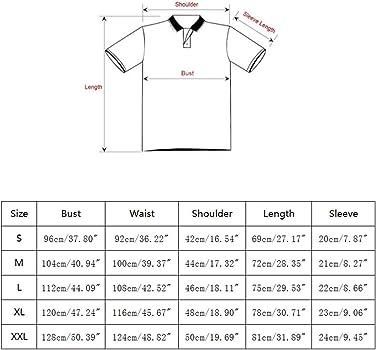 STTLZMC Polos Manga Corta Hombre Costura a Rayas Camiseta Golf ...