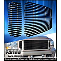 Fits 99-04 Ford F250/F350/Super Duty/Excursion Black Stainless Billet Grille #F65709J