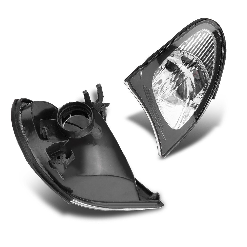 Corner Light Lens Turn Signal Light Cover Clear Lens for BMW E46 3-Series 4DR 2002-2005 European Clear corner signal light