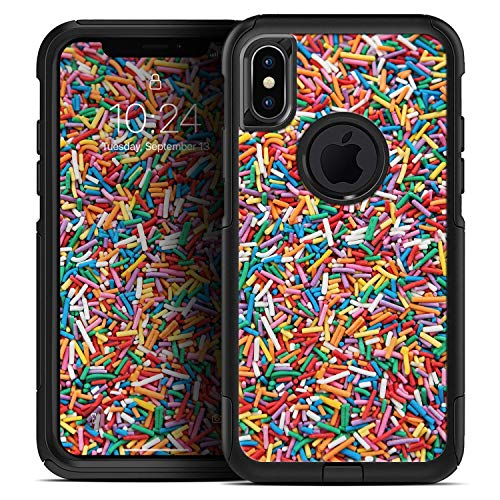 Colorful Candy Sprinkles - Skin Decal Kit for The iPhone XR OtterBox Commuter ()