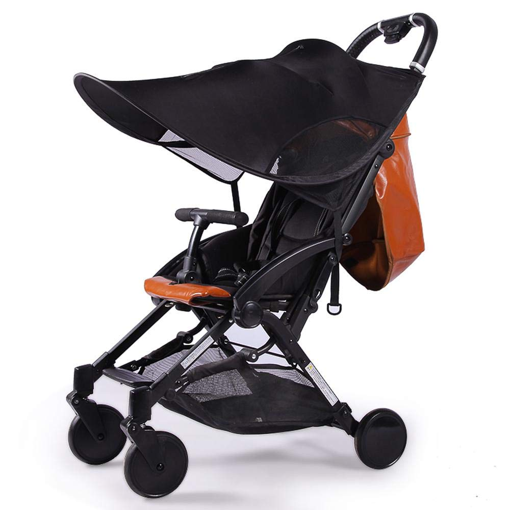 Universal Baby Stroller Canopy Extender,Sun Shade Cover/Sun Protection Parasol,Blocks 99% of UV Windproof Lycra Awning,Infant Stroller Accessories Visor for Stroller Pram Buggy Pushchair by Volwco
