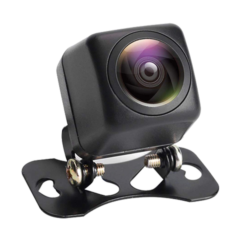 Telecamere per retromarcia 1080P angolo di visuale di 170° Mini Retrocamera visione notturna Imaging a infrarossi Telecamera posteriore auto resistente all'acqua e agli urti supporto universale (con linea guida) NüsseC