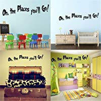 Wall Sticker Decorations Oh,The Places You'll Go for Kids Room Wall Decals for Girls Women Men Boys
