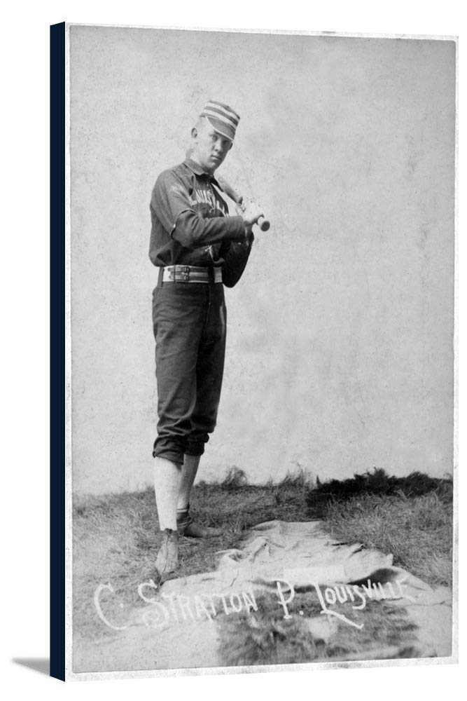 Louisville Colonels – C。Stratton – 野球カード 24 x 36 Gallery Canvas LANT-3P-SC-22486-24x36 B0184AJC5G  24 x 36 Gallery Canvas