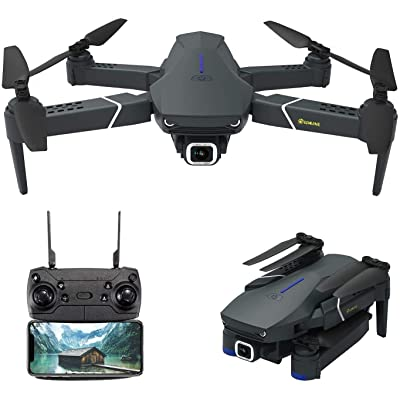 EACHINE E520 Drone with 4K Camera Live Video,WiFi FPV Drone for Adults with 4K HD 120° Wide Angle Camera 1200Mah Long Flight time Auto Hover Foldable RC Drone Quadcopter: Toys & Games