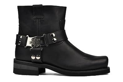 b8a1515a978 Harley Davidson Iroquois Low Men Black Leather Square Toe Biker Boots  Original