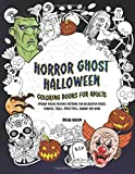 Horror Ghost Halloween Coloring Books For