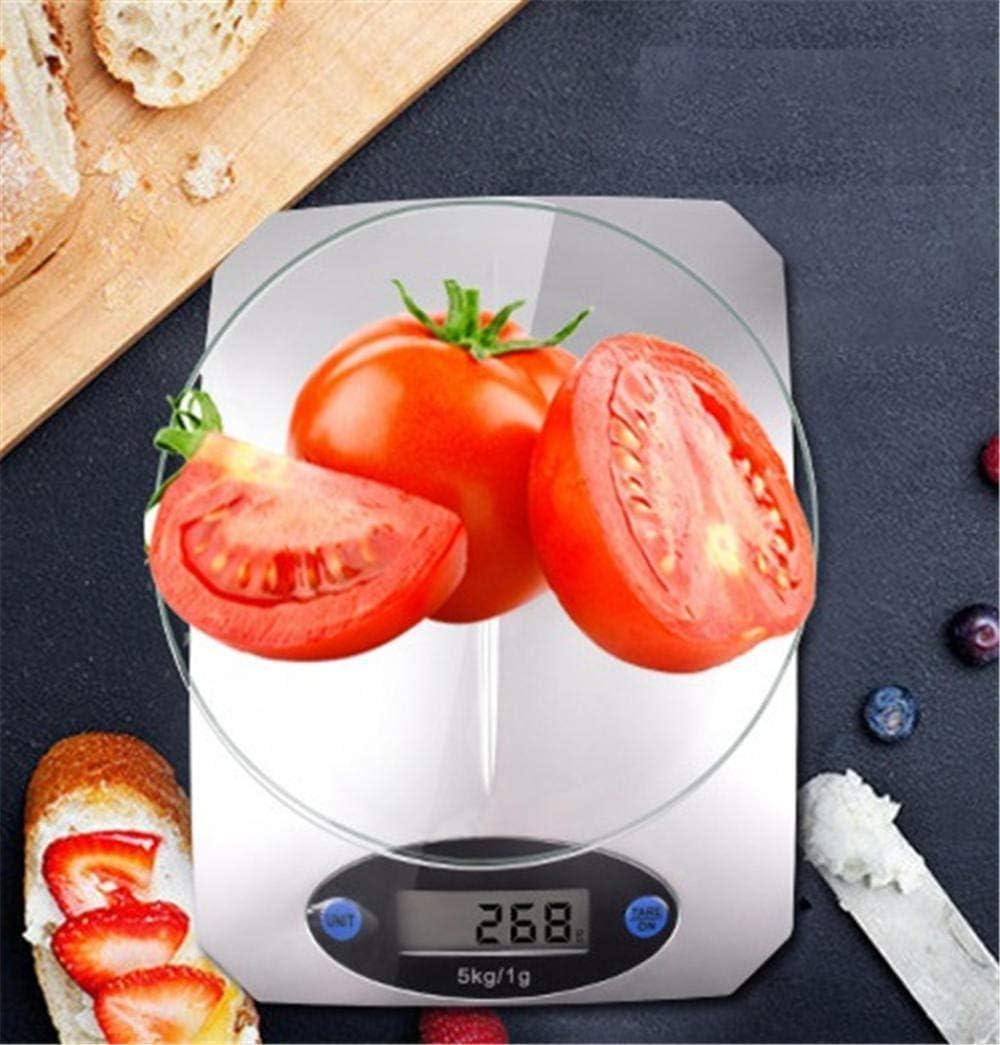 5000 g / 1 g 5 kg Dieta alimentare Poste Bilance da cucina Bilance di misurazione Bilance Bilance elettroniche a LED Vassoio in vetro temperato-Kitchen_Scale Kitchen Scale
