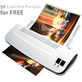New: Zoomyo 9 Hot & Cold Laminator Kit Z 9-5 Includes 50 x 3 mil Hot Pockets, Assorted Sizes