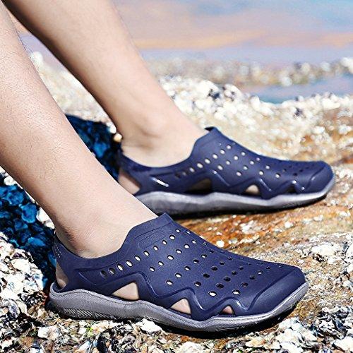 para Exteriores Hombre Zuecos Walking Pool Zapatillas Quick Mules Verano Sandalias Zapatillas Garden Agua Interior para Azul de de Laiwodun de Antideslizantes Beach Dry XqR1SI