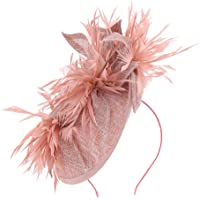 IPOTCH Tocado de Plumas Artificiales con Diademas de Pelo Floral para Boda Fiesta Mujer Novia