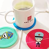 CONNECTWIDE USB Warmer Gadget Cartoon Silicone Thin Cup-Pad (Standard, Assorted Colour)