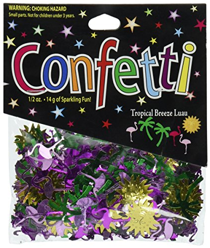 Beistle CN038 Tropical Breeze - Palm Confetti Tree