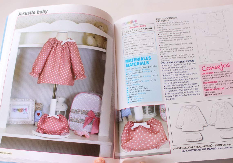 Revista patrones de costura infantil, nº 2. Especial bebé, 27 modelos de patrones, Cutting instructions.: Amazon.es: Hogar