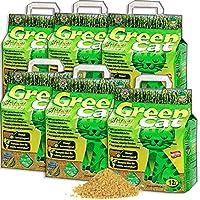 Green Cat żwirek dla kotów do grudków 6 x 12 l (72 l)
