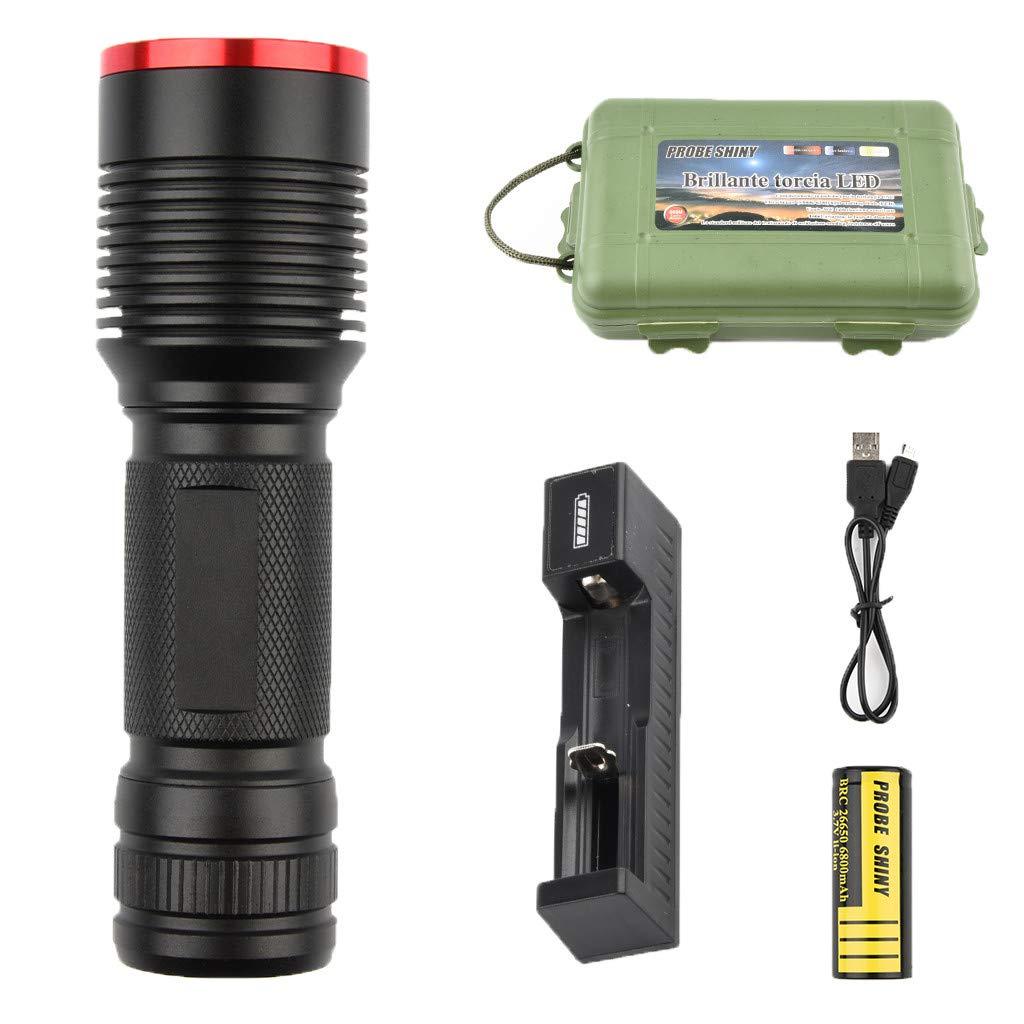 Libison Single Flashlight, Torch Light LED Glare P50 Xenon Lamp Flashlight Outdoor Riding Glare Rechargeable Flashlight Hunting Light Lamp For Sporting Camping Hiking C