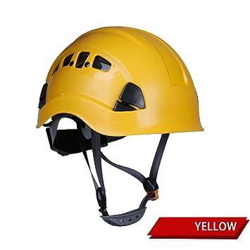 YIHANG @ Protección Casco Trabajo Aéreo Rescate Casco Al Aire Libre Cuesta Abajo Escalada Protección Cascos
