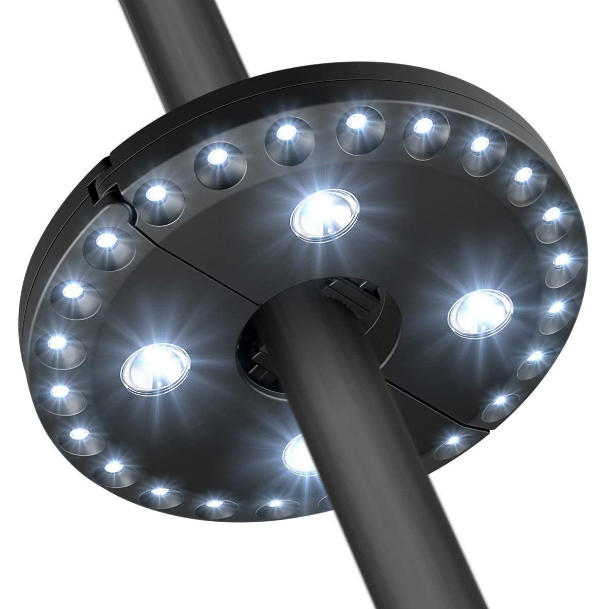 Youtree Patio Umbrella Light Outdoor Cantilever 3 Lighting Mode Offset Pool Patio Cordless 28 LED Stand Deck Large 200 Lumens Light Table Umbrellas Camping Light