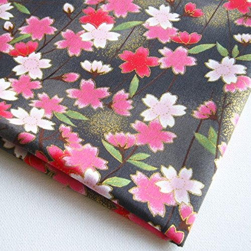 Janpanese Asian Kimono Sweet Pink Sakura Summer on Black ...