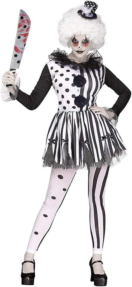 Harlequin Jester Femmes Déguisement Halloween Horreur Clown Costume Outfit