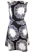 Kensie Womens Printed V-Back Cocktail Dress
