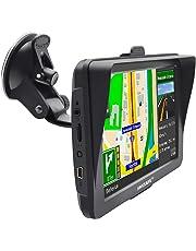 GPS Voiture Auto Europe 7 Pouces Ecran Tactile Cartographie Europe 52 à Vie Mise à Jour Gratuite à Vie avec Visière
