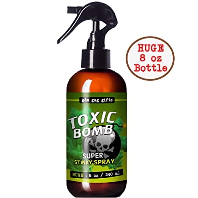 G&E Products 8 oz - Huge Bottle - Stinky Prank Liquid - Toxic Bomb - Fart Spray - Custom Mixture of Pure Nasty Smelling Spray - Great for Pranks - Smells Like A Dead Animal: Toys & Games