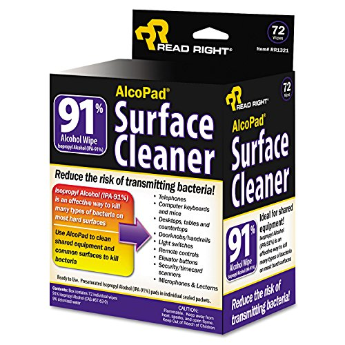 Read Right RR1320 - AlcoPad, Individually Wrapped, 24/Pack-REARR1320