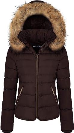 Womens Heavyweight Long Parka Jacket W// Fur Hood Coat Warm Winter Full-Zip NEW