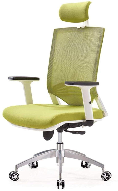 Spelstolar, kontorsfåtöljer, kontorsstol, nät datorstol, ergonomisk roterande stol, hem svängbar stol fåtölj (färg: D) b