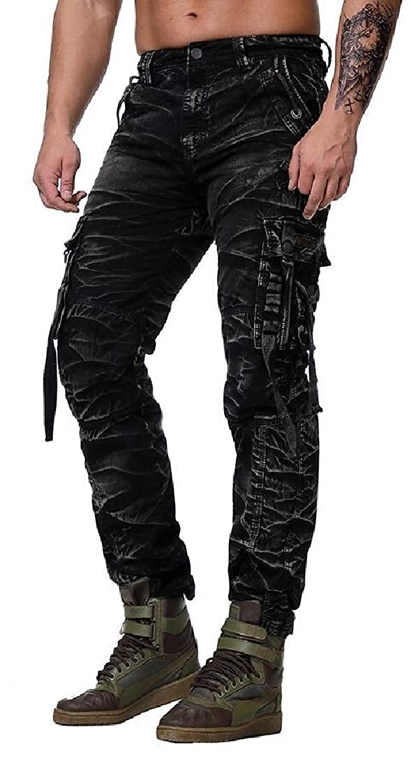 UNINUKOO Unko Mens Outdoor Cotton Cargo Pants Multi-Pockets Sport Military Pants