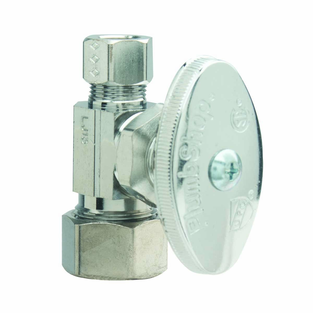 BrassCraft PSB54X Multi Turn Angle Water Shut Off Valve, Chrome Plated