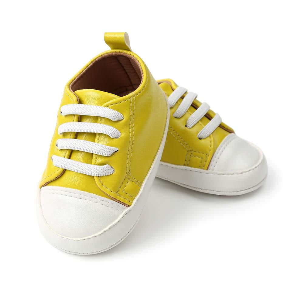 Morbuy Zapatos de Bebe PU Artificial Primeros Pasos, Niño y Niña Recién Nacido Cuna Suela Blanda Antideslizante Zapatillas de Deporte: Amazon.es: Ropa y ...