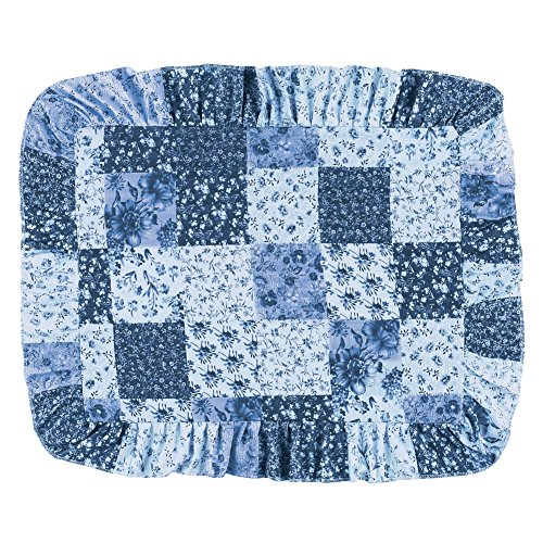Collections Etc Country Wildflower Patch Pillow Sham, Blue, Sham ()
