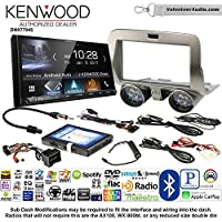 Volunteer Audio Kenwood DMX7704S Double Din Radio Install Kit with Apple CarPlay Android Auto Bluetooth Fits 2010-2015 Chevrolet Camaro