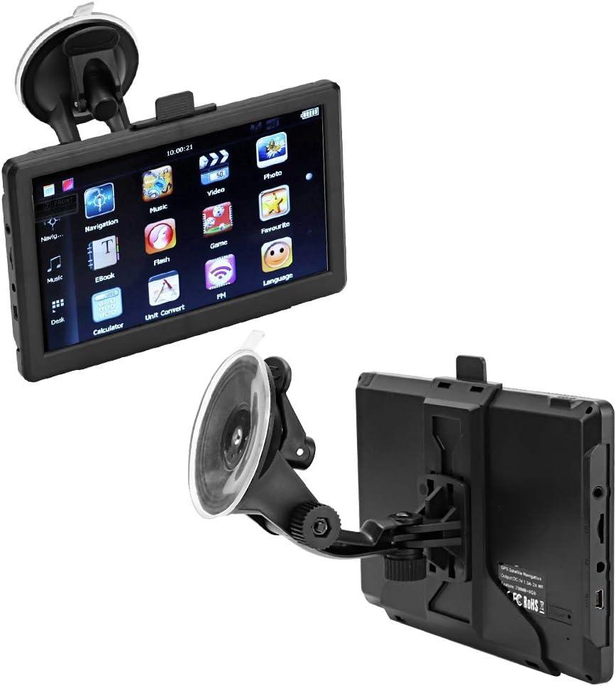 Reproductor de coche 7 pulgadas 256 MB 8G HD Pantalla t/áctil Coche port/átil Navegador GPS Mapa M/úsica Radio Reproductor