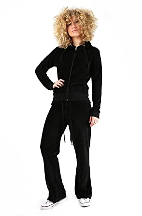 Womens Ladies Velour Hooded Tracksuit Plus Size Jogging Top Bottom Suit  Trousers (8uk 68208bcc59fa