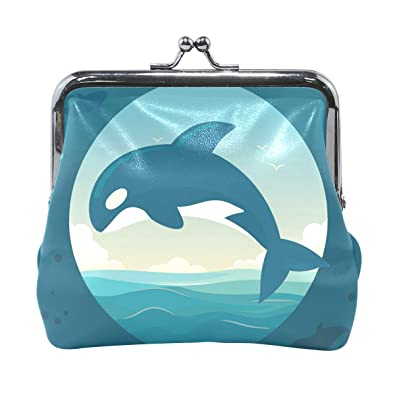 Amazon.com: LALATOP Killer Whales - Monedero para mujer ...