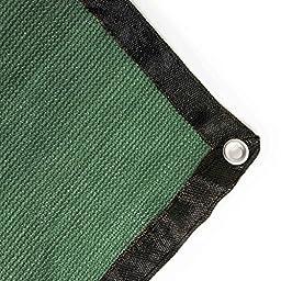 ALEKO 6 x 12 Feet Dog Kennel Shade Cover w/ Aluminum Grommets Dark Green