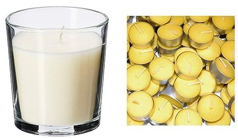 Candele Da Giardino Ikea : Ikea sinnlig vetro candela profumata alla vaniglia e gala