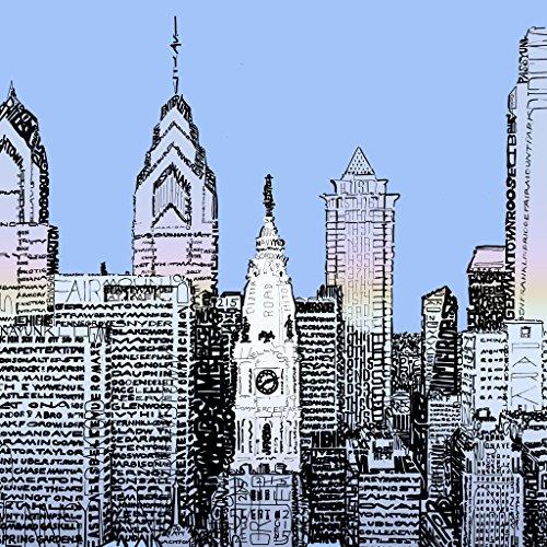 Philadelphia Skyline Wall Art Poster - Philadelphia Print - Philly Home Decor - 16
