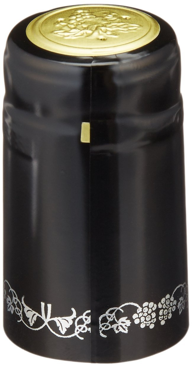 Home Brew Ohio black with Silver Grapes PVC shrink Capsules-500Count