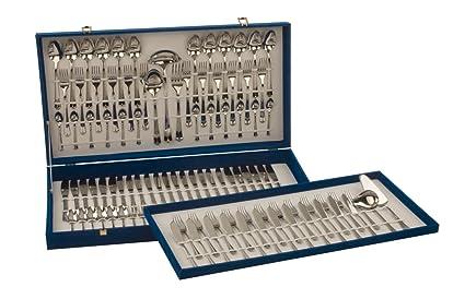 Monix Milán - Set 113 piezas cubiertos de acero inox 18/10.