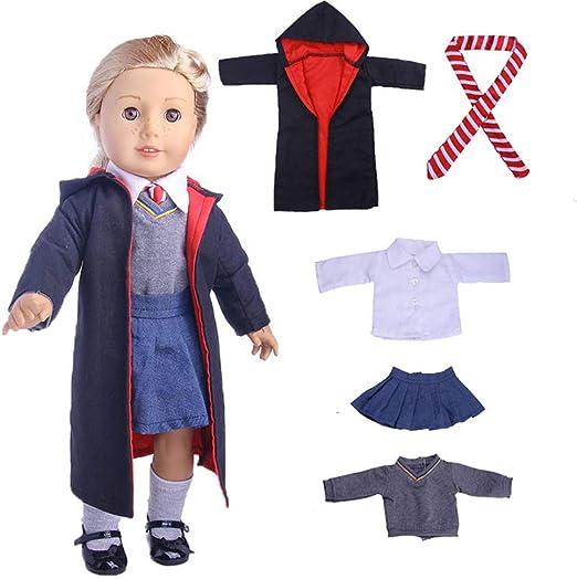Mallalah - Ropa de muñeca Doll Clothes Uniformes Muñeca Americana ...