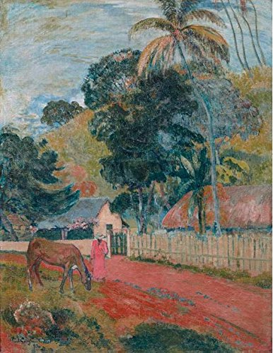 'Paul Gauguin-Horse On Road Tahitian Landscapes,1899' Oil Painting, 8x10 Inch / 20x26 Cm ,printed On High Quality Polyster Canvas ,this Cheap But High Quality Art Decorative Art Decorative Canvas Prints Is Perfectly Suitalbe For Garage Artwork And Home Gallery Art And Gifts - Snail Costume On Road