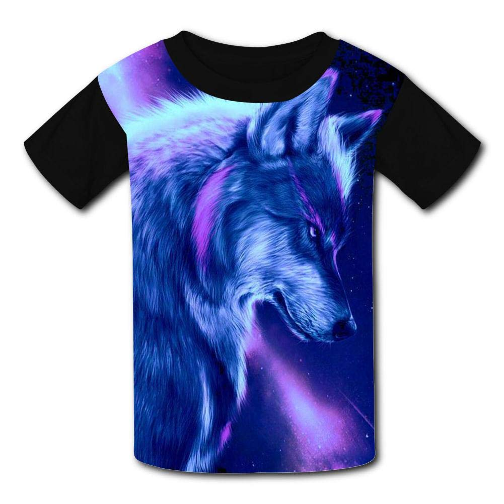 Youth Cute Funny Wolf 3D Printed T-Shirts O-Neck Short Sleeve Kids Tees