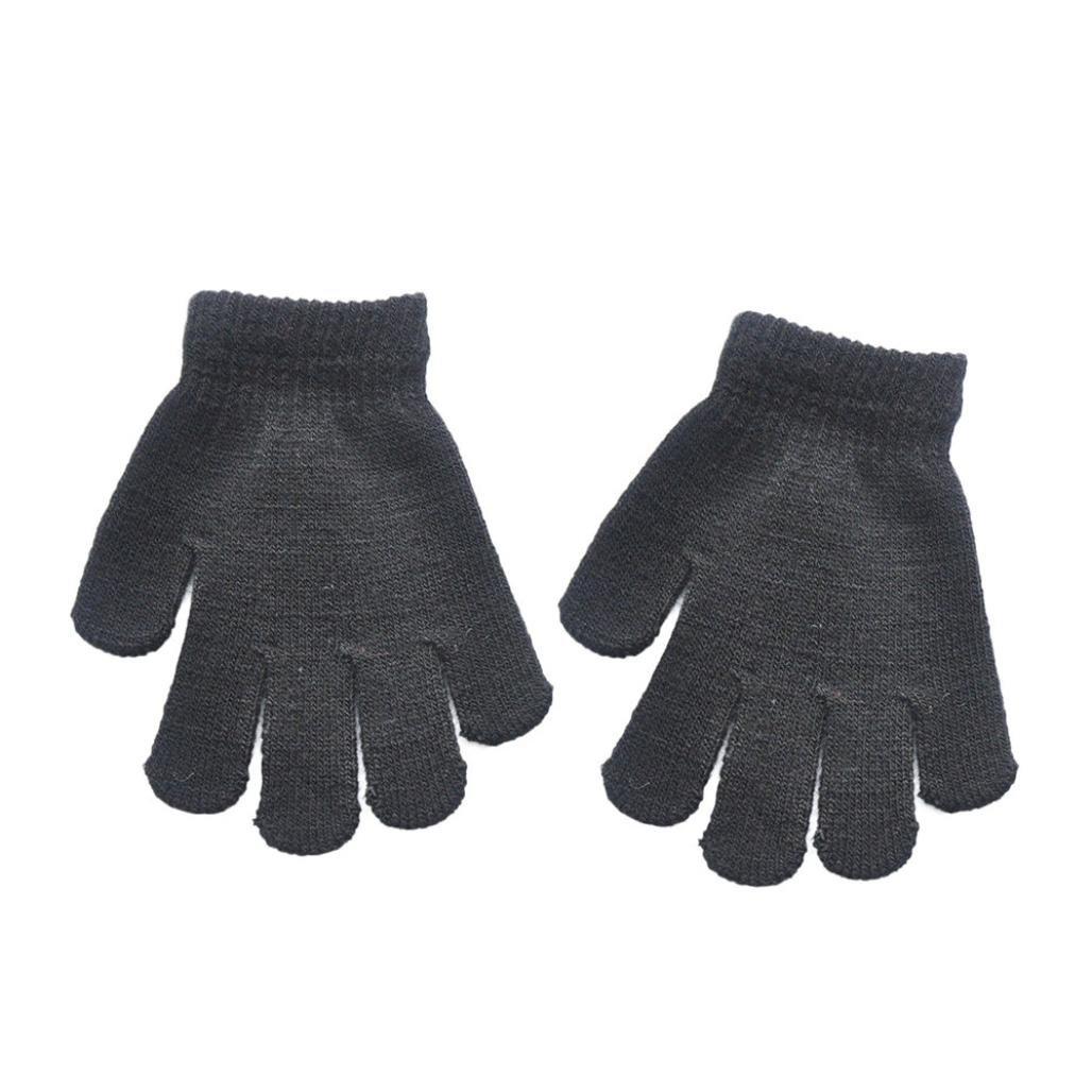 BANG Infant Baby Cute Solid Print Hot Girl Boy Full Finger Winter Warm Gloves